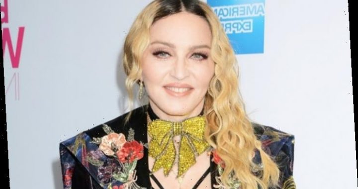 Madonna Joins London Black Lives Matter March in Crutches