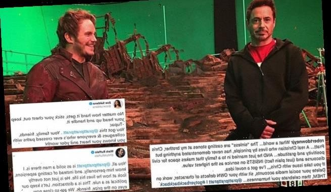 Mark Ruffalo and Robert Downey Jr. defend Chris Pratt over politics