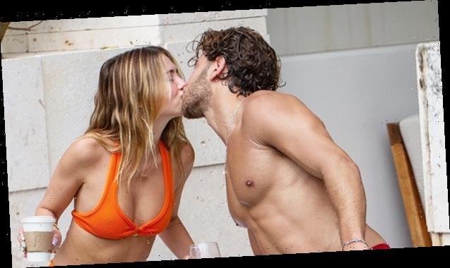 Delilah Hamlin Shares Steamy KissWithBF Eyal BookerAsThey LoungeInThePoolOnVacay