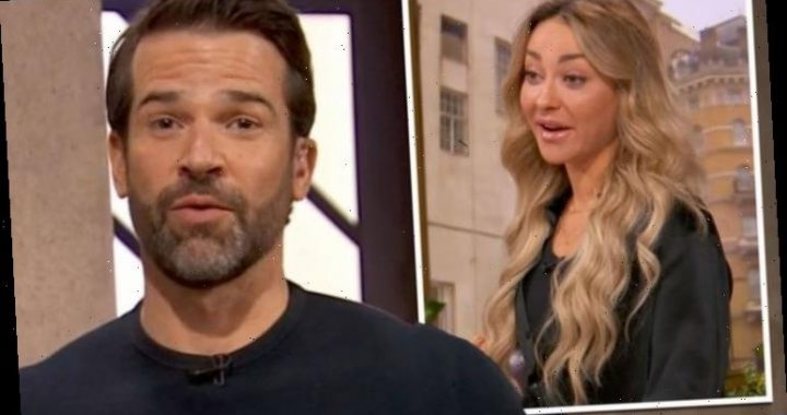 Gethin Jones 'distracted' by Strictly's Luba Mushtuk during BBC Morning Live workout