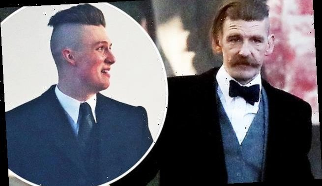Peaky Blinders stars Paul Anderson and Harry Kirton get into character