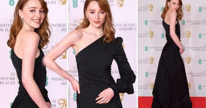 Phoebe Dynevor: Bridgerton star stuns in glamorous asymmetric dress at BAFTA Awards 2021