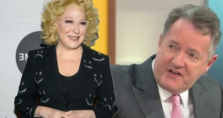 Piers Morgan reacts after Bette Midler says of him 'Viagra can't help a man that soft'