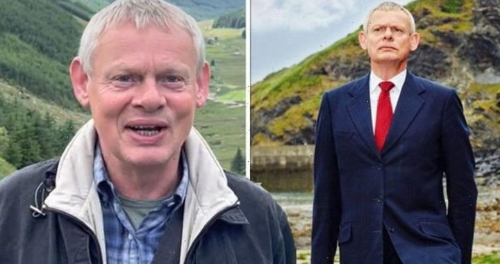 Martin Clunes invites hero boy, 10, to set of Doc Martin final series at Pride of Scotland