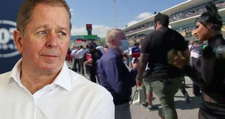 Martin Brundle shunned by Megan Thee Stallions entouragein awkward Formula 1 interview