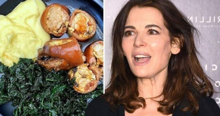Nigella Lawson divides fans with pre-made dinner which includes item used as dogs treat