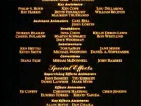 Beauty and the beast end credits