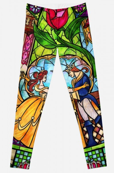 Beauty and the beast leggings