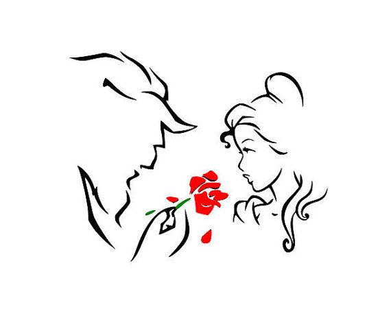 Disneys Beauty and the beast svg, Im his beauty Im her beast …