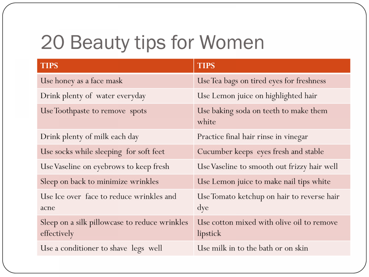 Beauty tips every woman must know…