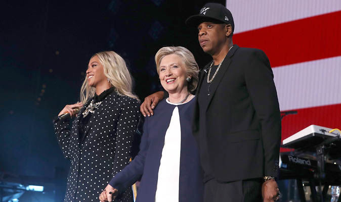Celebrities for clinton