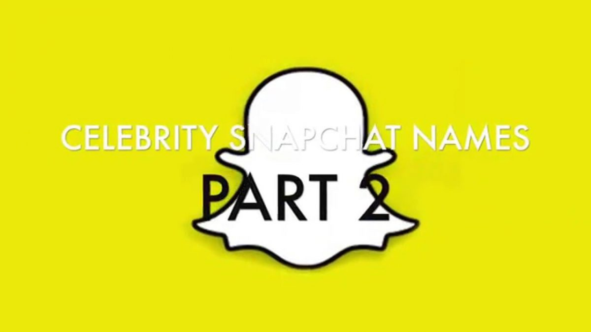 Celebrities snapchat names 2016