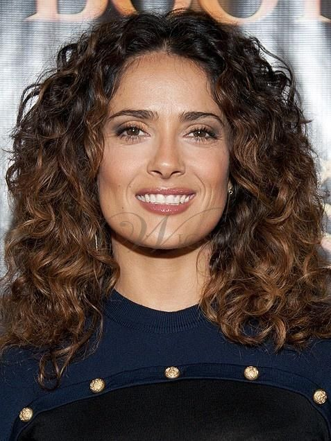 Celebrities with naturally curly hair