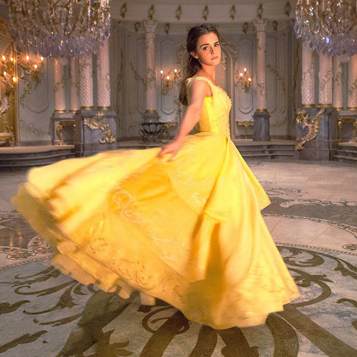 Emma watson beauty and the beast dress