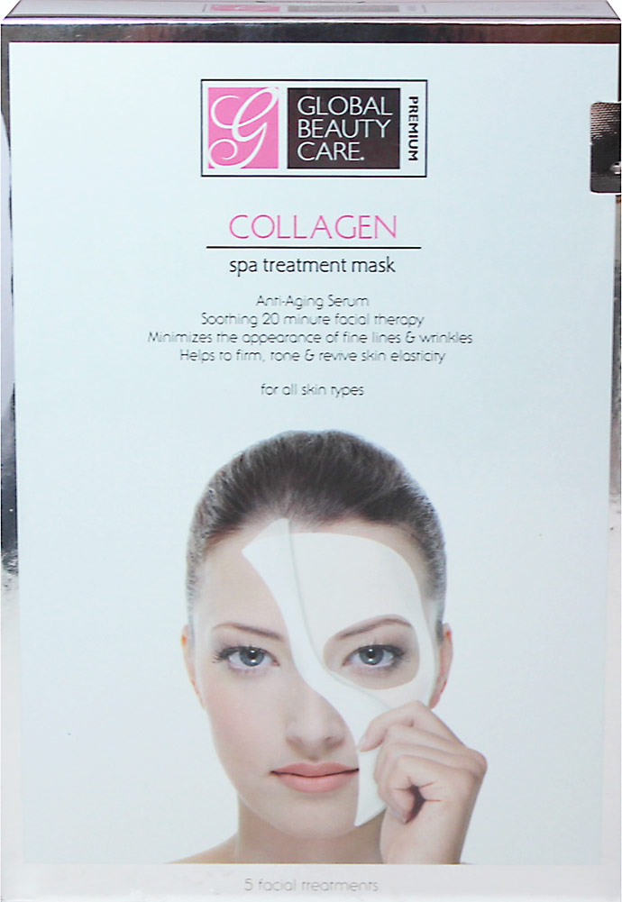 Global Beauty Care Premium Collagen Spa Treatment Mask is an effective facial skincare therapy …