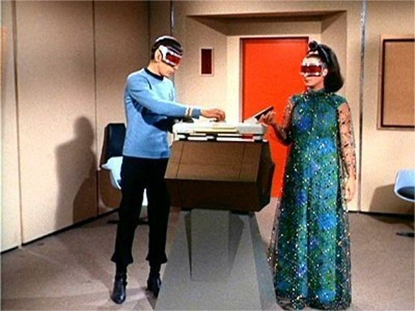 Lovely telepath Miranda is aide to Ambassador Kollos, in a box to stop …