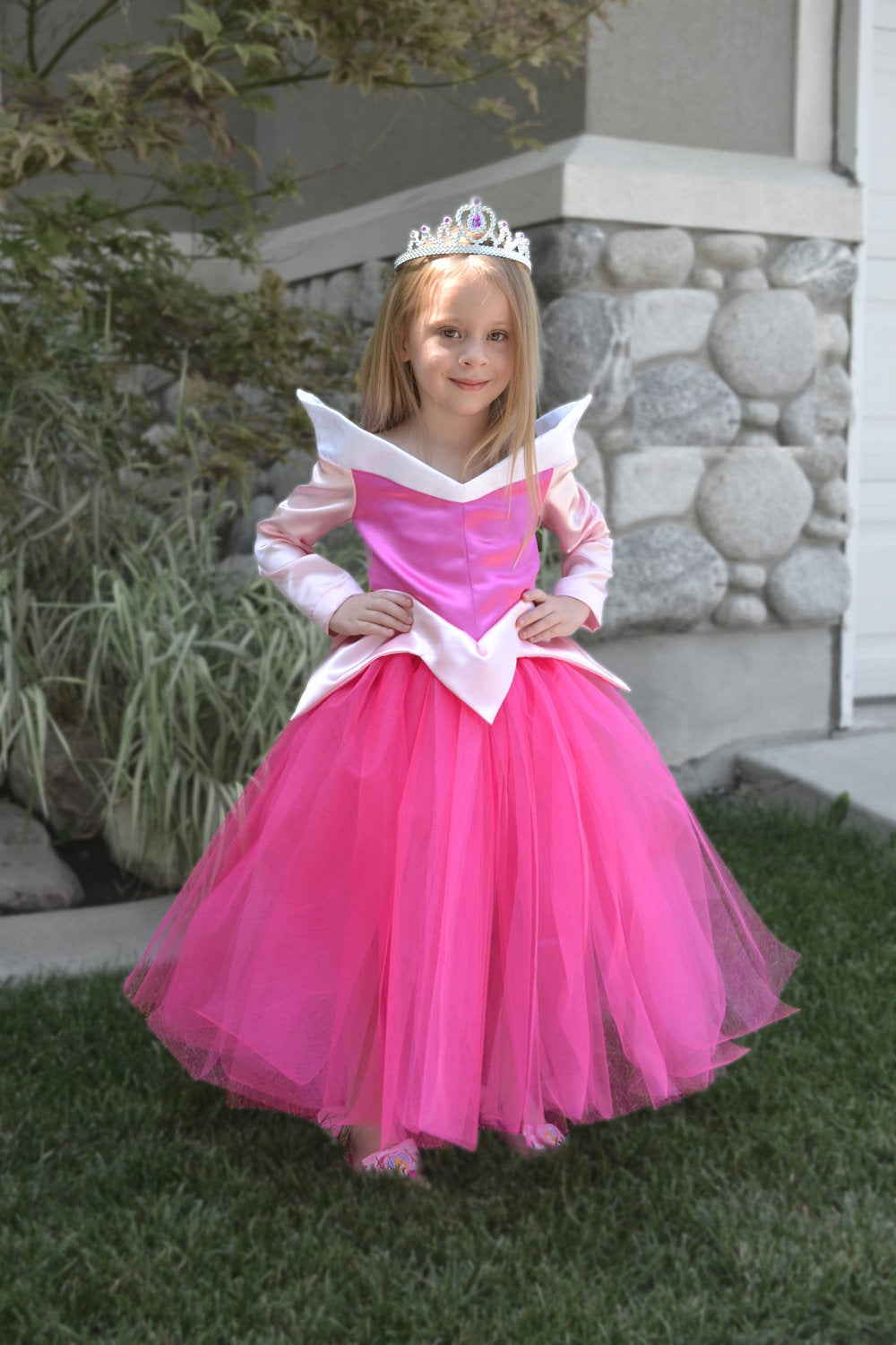Sleeping Beauty dress, Princess Aurora dress, Princess dress, Aurora costume, satin dress, pink dress, …