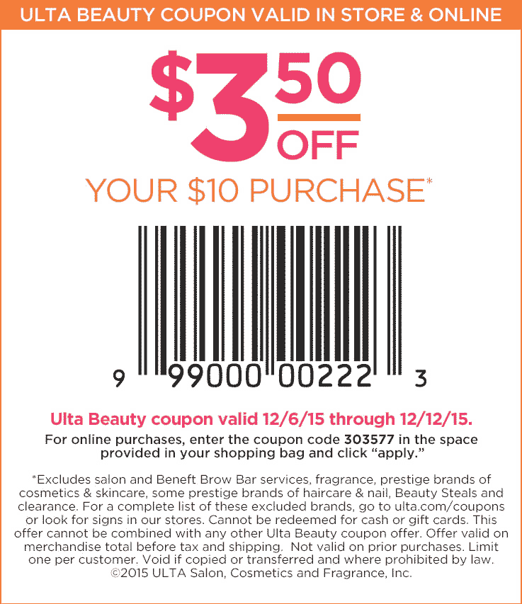 Save today on your favorite beauty brands with Ulta coupons…